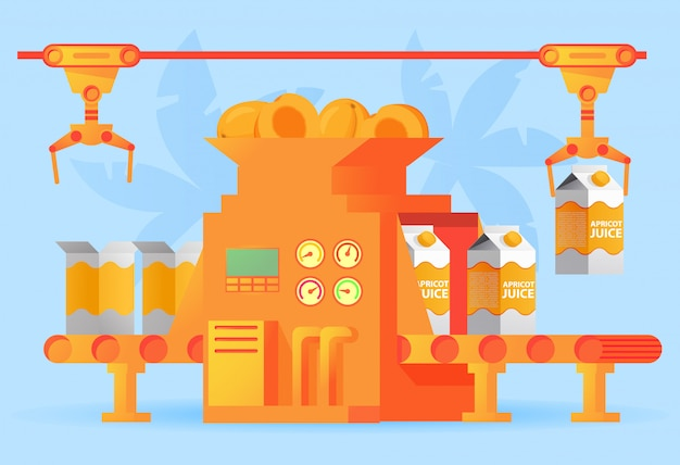 Fábrica de embalagem de suco de damasco transportadora