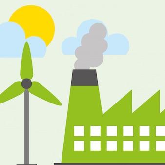 Fábrica de indústria de turbinas de energia eólica