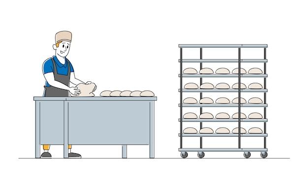 Fábrica de padaria e conceito de produção de alimentos