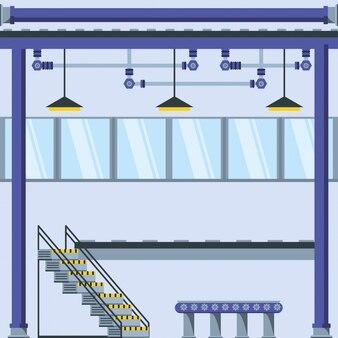 Fábrica dentro de lugar com escadas