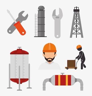 Fábrica e equipamentos industriais