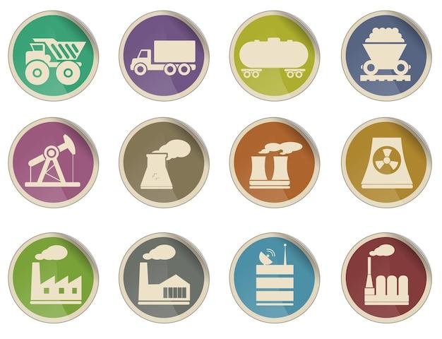 Fábrica e indústria simplesmente símbolos