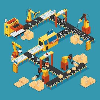 Fábrica industrial isométrica