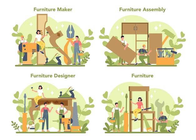 Fabricante ou designer de móveis de madeira