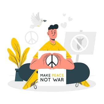Faça a paz não ilustração do conceito de guerra