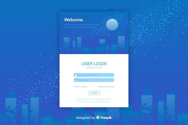 Faça login na página de destino com a caixa de login