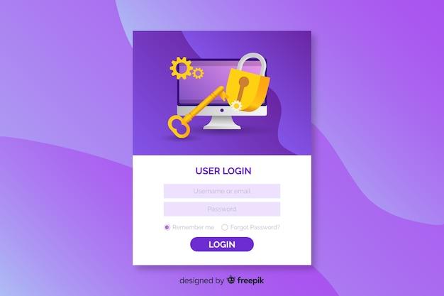 Faça login na página de destino com email e senha