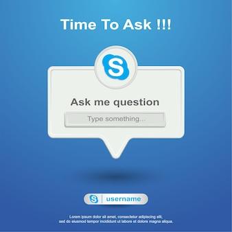 Faça-me perguntas nas redes sociais no skype