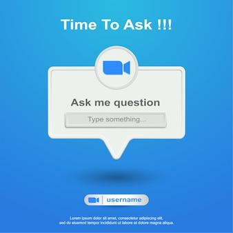 Faça-me perguntas nas redes sociais sobre zoom