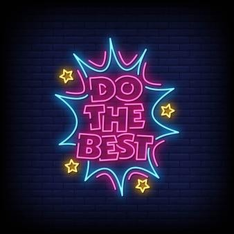 Faça o melhor texto de estilo de sinais de néon