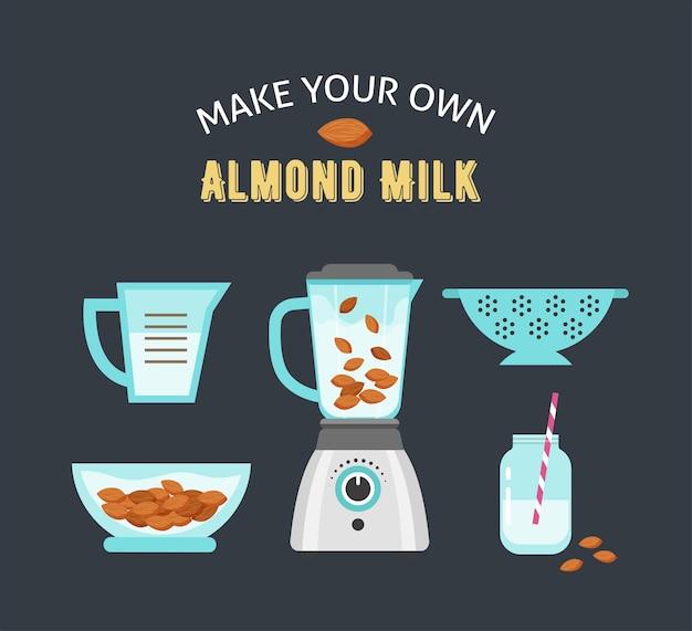 Faça seu próprio leite de amêndoa