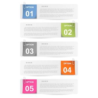 Faça sua escolha - anotações em papel grampeado