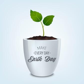 Faça todos os dias o dia da terra - fundo com citação. conceito de ecologia.