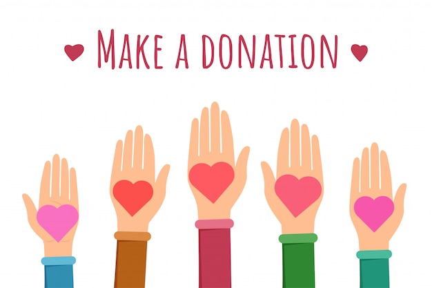 Faça um modelo de banner plana de doação