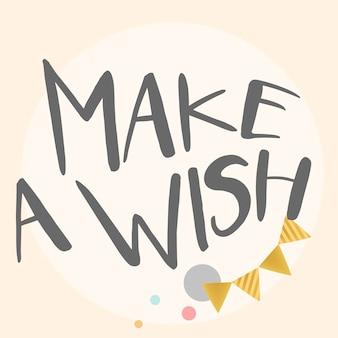 Faça um vetor de tipografia de desejo