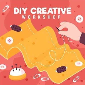 Faça você mesmo oficina de costura criativa
