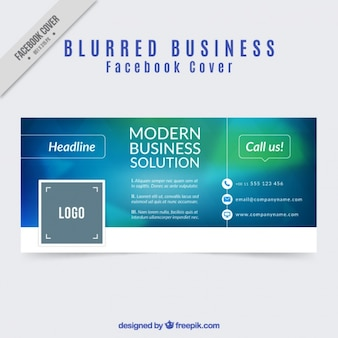 Facebook capa de negócio do projeto turva
