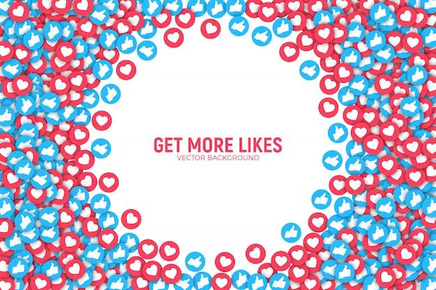 Facebook como ícones abstrato