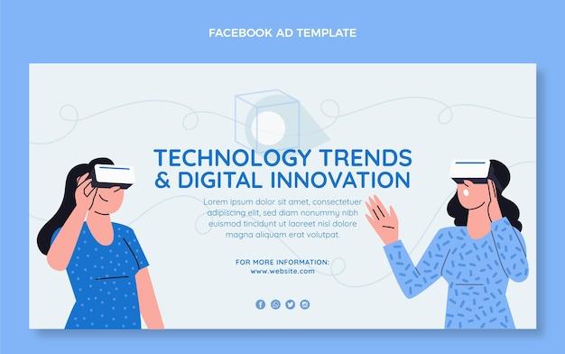 Facebook de tecnologia plana mínima