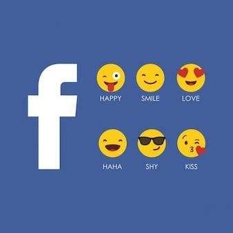 Facebook emoji ícone