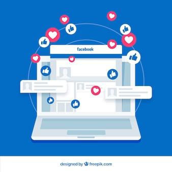 Facebook gosta com dispositivo eletrônico