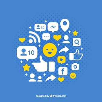 Facebook ícone do fundo