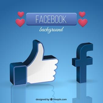Facebook símbolo fundo
