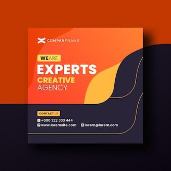 Facebook twitter youtube online web especialistas em mídia social agência criativa post banner design