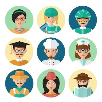 Faces avatar ícones