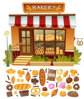 Fachada da loja de padaria