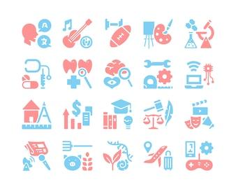 Faculdade do conjunto de ícones da Universidade