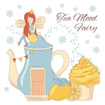 Fada do chá de madeira