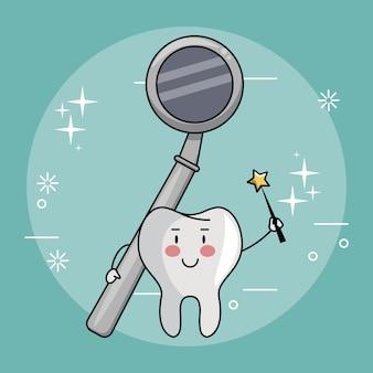 Fada do dente e atendimento odontológico