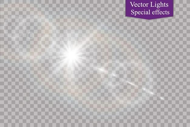 Fagulhas brancas com efeito de luz especial
