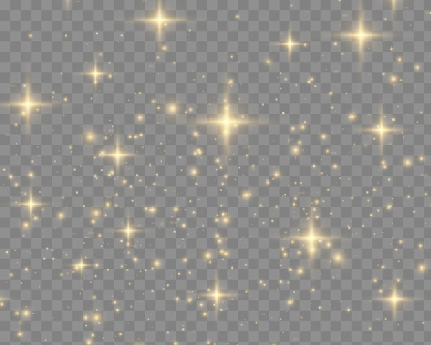 Faíscas brancas brilham efeito de luz especial
