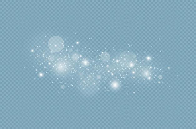 Faíscas brancas e efeito de luz especial de brilho efeito de luz brilhante