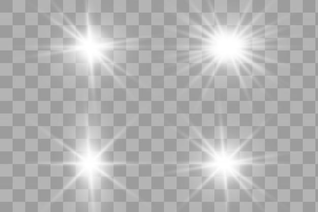 Faíscas de poeira e estrelas douradas brilham com luz especial.