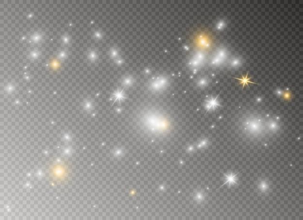 Faíscas e estrelas brilham efeito de luz especial.