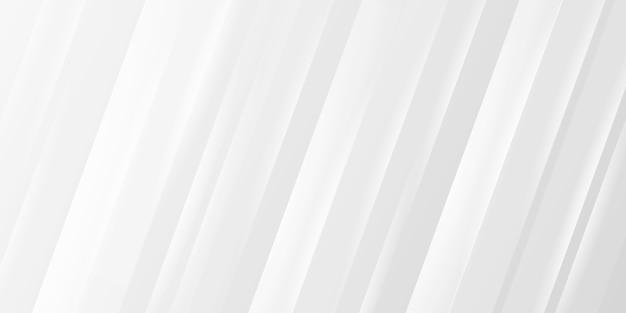Faixa branca de negócios com linha dinâmica de forma reta