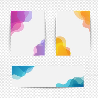Faixa colorida grande coleção isolada transparente