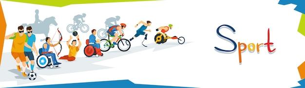 Faixa de competição de esporte de atletas com deficiência