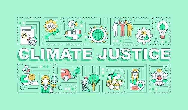 Faixa de conceitos de palavras de justiça climática