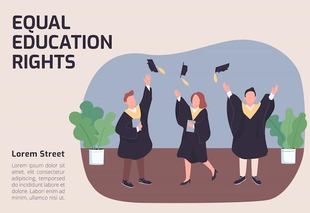 Faixa de direitos à educação igual