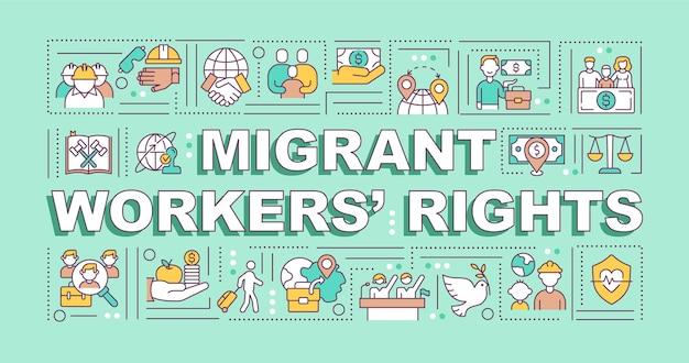 Faixa de direitos dos trabalhadores migrantes