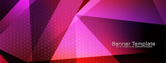 faixa de estilo geométrico de cor roxa