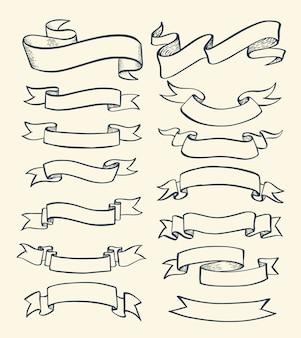 Faixa de fita desenhado conjunto