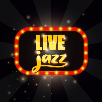 Faixa de jazz ao vivo