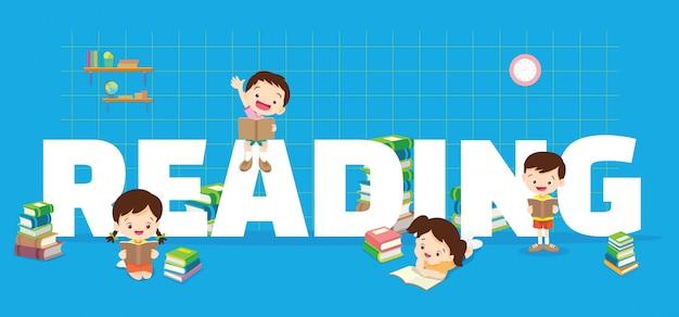 Faixa de leitura para crianças