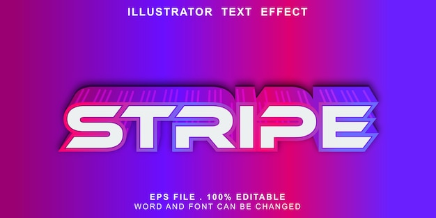 Faixa de logotipo editável de efeito de texto de faixa