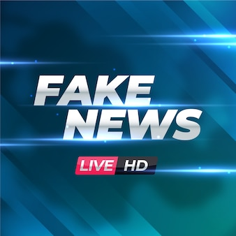 Faixa de notícias falsas